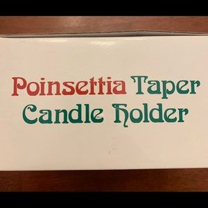 Poinsettia Taper Candle Holder